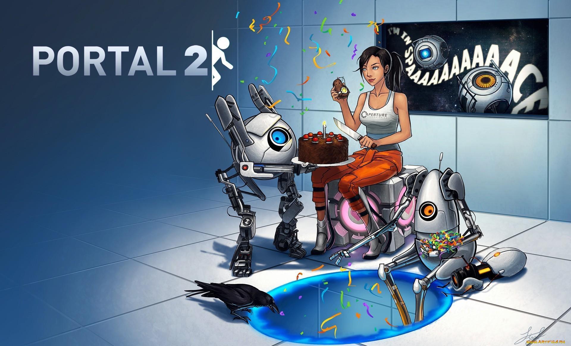 Видео игры portal ворона гладос куб